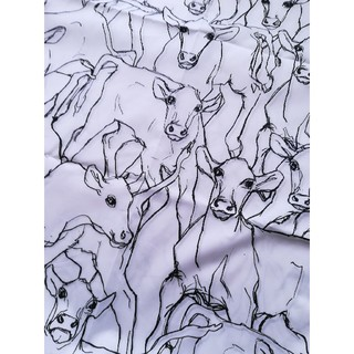 マリメッコ(marimekko)のmarimekko マリメッコ 牛 イルタヴィッリ ホワイト 北欧 生地 黄緑(生地/糸)