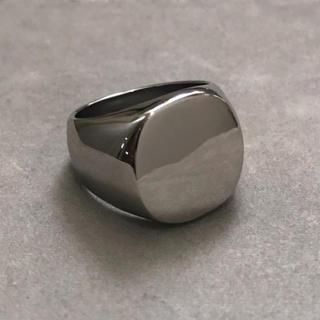 高品質STAINLESS STEEL カレッジリング 丸型  シルバー(リング(指輪))