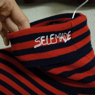 self made セルフメイド サイズ46 ボーダーニット セーター 刺繍(ニット/セーター)
