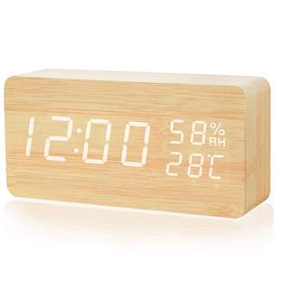 置き時計 木目調 デジタル時計(置時計)