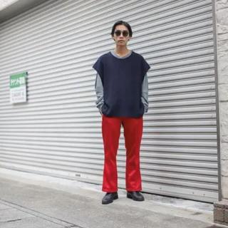 ニードルス(Needles)のLOCALINA×OTSUKA Flare Pants 赤フレアパンツ(スラックス)