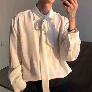 メンズ 変形 レイヤード シャツ 韓国系 カジュアル ドレス シャツ(シャツ)