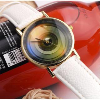 新品 送料込み トレンド感♪レコード インスタ 男女兼用腕時計 白(腕時計(アナログ))