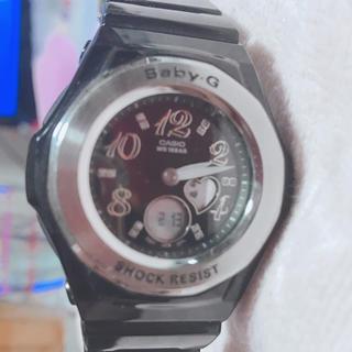 ベビージー(Baby-G)のBaby-G  ストーン入り 防水 電池交換済(腕時計)