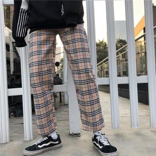 【SALE】新品 チェック柄 タータンチェック 茶色チェック ズボン(チノパン)