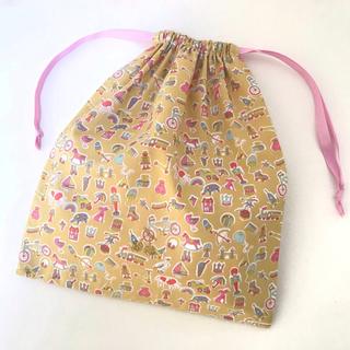 ボンポワン(Bonpoint)の輸入リバティ [リトル・トレジャーズ] 大きめ 巾着袋 ・ 給食袋(その他)
