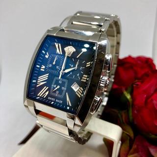 ジャンニヴェルサーチ(Gianni Versace)の稼働品! ヴェルサーチ Versace 腕時計 クロノグラフ トノー WLC(腕時計(アナログ))