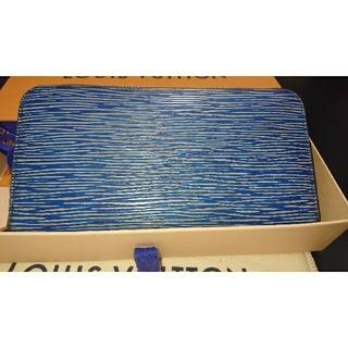 ルイヴィトン(LOUIS VUITTON)の正規品 ルイヴィトン 財布 ジッピー エピ デニム ブルー 美品(財布)