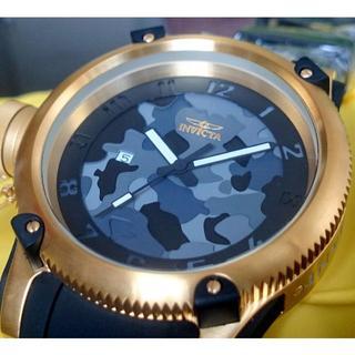 インビクタ(INVICTA)の定価10.9万円 INVICTA インビクタ ロシアンダイバー 金×黒 カモ(腕時計(アナログ))