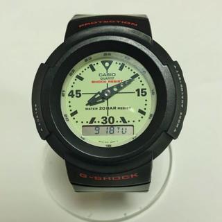 ジーショック(G-SHOCK)の美品❗G-SHOCK AW-500B-7 蓄光ダイヤル 赤文字 新品ベルト付(腕時計(アナログ))