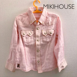ミキハウス(mikihouse)の【ミキハウス】ウエスタンシャツ ピンク100(ブラウス)