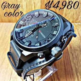【海外限定】Carrengray アンティークグレー  メンズ 腕時計 ウォッチ(腕時計(アナログ))