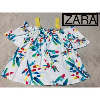 ザラ(ZARA)の美品 ザラのオフショルトップス(カットソー(半袖/袖なし))