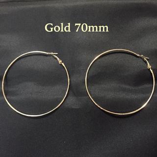限定価格!早い者勝ち!デザインフープピアス 2個セット ゴールド70mm(ピアス)