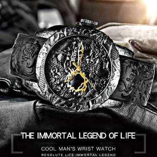 【海外限定ウォッチ】Bidin黒龍モデル 腕時計 メンズ ウォッチ ブラック(腕時計(アナログ))