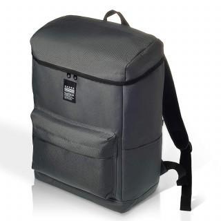 グレー リュック ロゴプリント ビジネスバッグ 大容量 通勤 通学 A4(バッグパック/リュック)