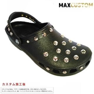クロックス(crocs)のクロックス crocs ネオパンク カスタム 黒 サイズ22~30cm 新品(サンダル)