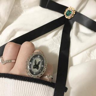 イートミー(EATME)のラビット リング 指輪 ヴィンテージ ゆめかわいい アンティーク ハンドメイド(リング(指輪))