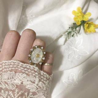 リリーブラウン(Lily Brown)のおばけの リング 指輪 ヴィンテージ アンティーク ゆめかわ ハンドメイド(リング(指輪))