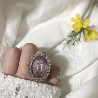 イートミー(EATME)のマーブルチョコ リング 指輪 ヴィンテージ アンティーク ハンドメイド ゆめかわ(リング(指輪))