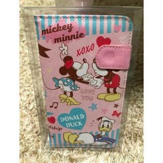 ディズニー(Disney)のミッキー&ミニー モバイル ケース ピンク(モバイルケース/カバー)