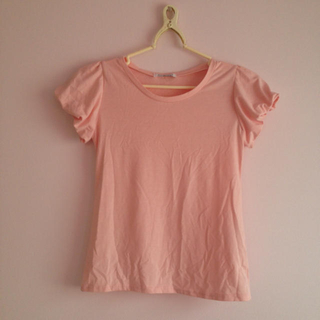ピンク☆パフスリーブ(Tシャツ(半袖/袖なし))