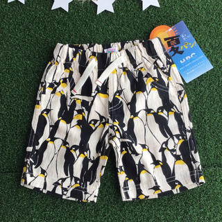 ★【 90 】 夏パン ペンギン柄 ハーフパンツ (その他)