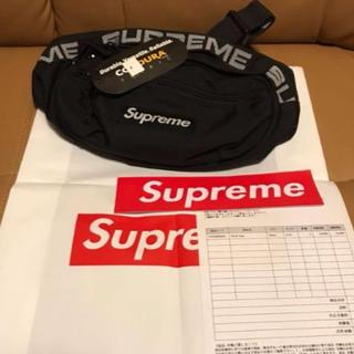 シュプリーム(Supreme)のsupreme 18SS ウエストバック 黒      (ウエストポーチ)