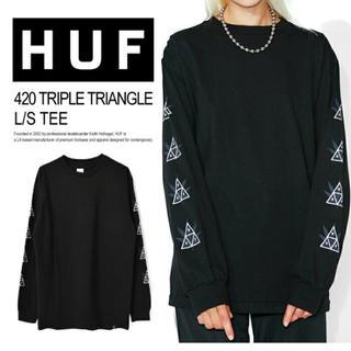 ハフ(HUF)の残り2枚 新品 lサイズ HUF ロンt(Tシャツ/カットソー(七分/長袖))