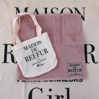 メゾンドリーファー(Maison de Reefur)の新品 MAISON DE REEFUR ハンドタオル&ショッパーセット(ハンカチ)