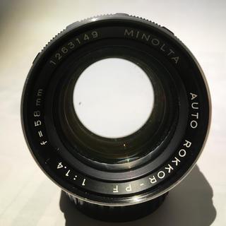 コニカミノルタ(KONICA MINOLTA)のMINOLTA AUTO R0KKOR-PF 58mm F1.4(レンズ(単焦点))