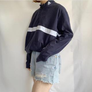 アディダス(adidas)のadidas モックネック長袖TEE(Tシャツ/カットソー(七分/長袖))