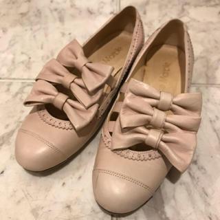 ジェーンマープル(JaneMarple)の本日お値下げ!ジェーンマープル 3本リボンストラップ靴 S(ローファー/革靴)