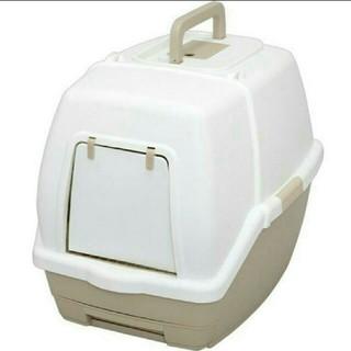 送料込みアイリスオーヤマ フード付きネコトイレTIO-530FTホワイトベージュ