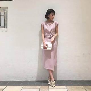 ラグナムーン(LagunaMoon)のウエストラップタイトドレス(ミディアムドレス)
