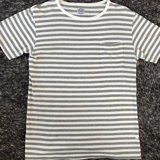 スタンダードカリフォルニア(STANDARD CALIFORNIA)のスタンダードカリフォルニア ボーダー柄ポケット付き Tシャツ S(Tシャツ/カットソー(半袖/袖なし))
