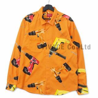 シュプリーム(Supreme)のSupreme Drills Work Shirt オレンジS(シャツ)