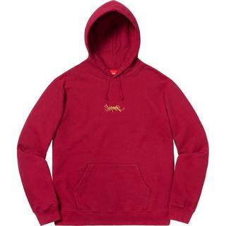 シュプリーム(Supreme)のSupreme Tag Logo Hooded Sweatshirt 赤S(パーカー)
