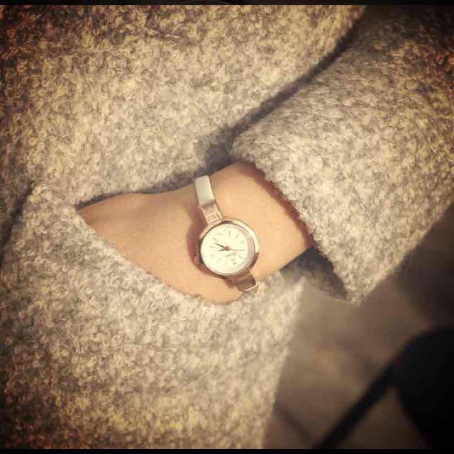 シンプルスワロウォッチ * ホワイト レディースのファッション小物(腕時計)の商品写真