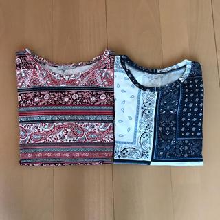 ザラ(ZARA)の✩︎ZARA TRAFALUC✩︎バンダナ柄Tシャツ2枚set(Tシャツ(半袖/袖なし))