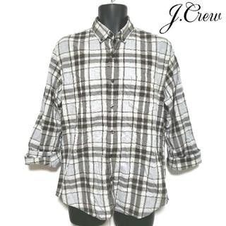 ジェイクルー(J.Crew)の☆J.CREW☆マドラスチェック長袖シャツ メンズMサイズ(シャツ)