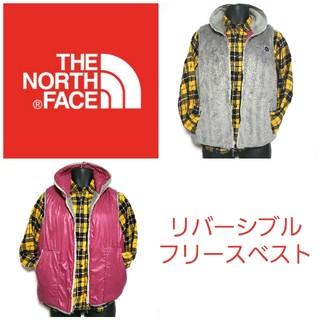 ザノースフェイス(THE NORTH FACE)の☆THE NORTH FACE☆リバーシブルフリースベスト メンズMサイズ(ダウンベスト)