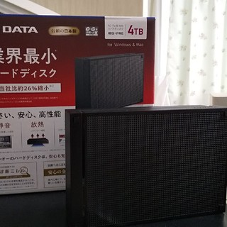 IO DATA 外付けハードディスク4TB(PC周辺機器)
