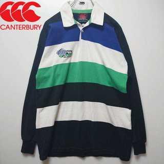 CANTERBURY ボーダー ラガーシャツ ニュージーランド製 N203(ポロシャツ)