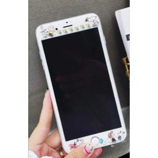 iPhone 7/8☆スヌーピー☆保護フィルム HAPPY DANCE(保護フィルム)