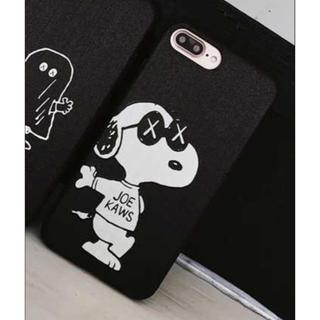 iPhone☆スヌーピー☆ケースブラック(iPhoneケース)
