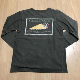 インディアン(Indian)のIndian motocycle ロングスリーブTシャツ Sサイズ カーキ(Tシャツ/カットソー(七分/長袖))