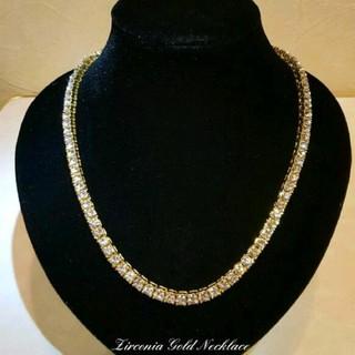 ★高級★ゴールド ジルコニア ネックレス メンズ(ネックレス)
