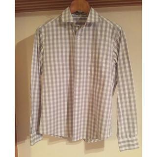 ジーユー(GU)の☆美品☆GU  チェックシャツ  メンズSサイズ(シャツ)