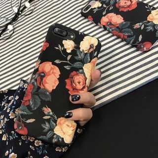 花柄 バラ レトロ ヴィンテージ  iPhoneXR(iPhoneケース)